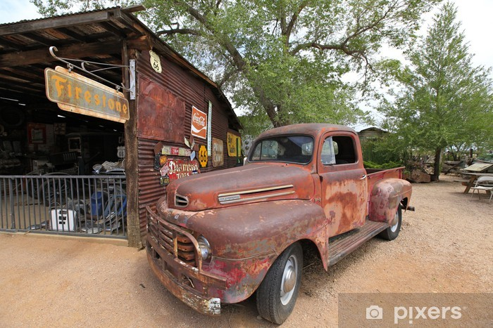 Aufkleber Altes Auto In Hackberry Route 66 Pixerstick