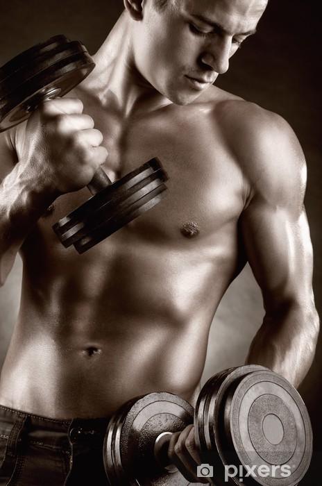 Naklejka Pixerstick Muskularny mężczyzna - Zdrowie