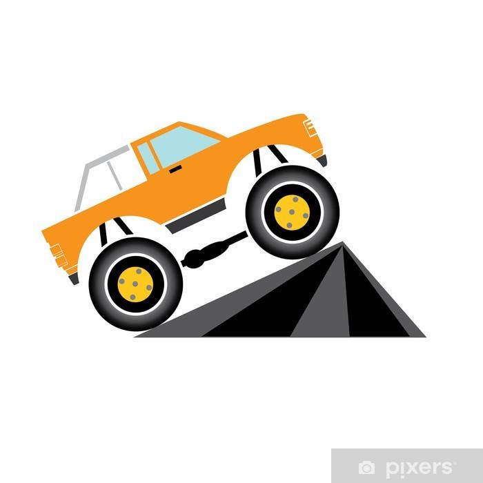 Papier peint vinyle Vecteur Cartoon Monster Truck - Sur la route