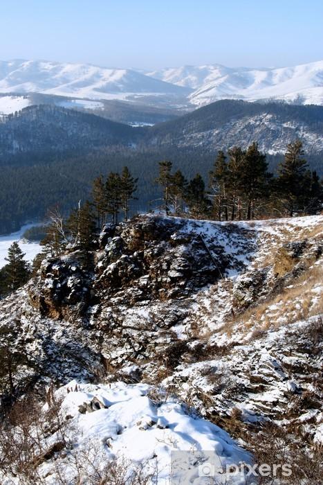 Vinyl-Fototapete Altai Berg mit Schnee im Winter 2008 - Jahreszeiten