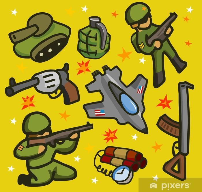 Sticker Pixerstick Armée mis à plat - Autres sentiments