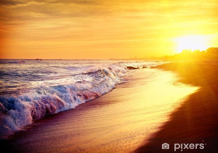 Fotomural Estándar Beautiful Sunset Beach Sea. Mar Mediterráneo. Spai - Temas