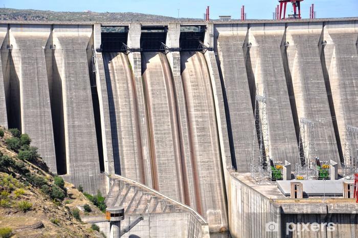 Naklejka Pixerstick Dam z Alkantary, hiszpańskie zbiorniki, Cáceres - Nauki stosowane i ścisłe