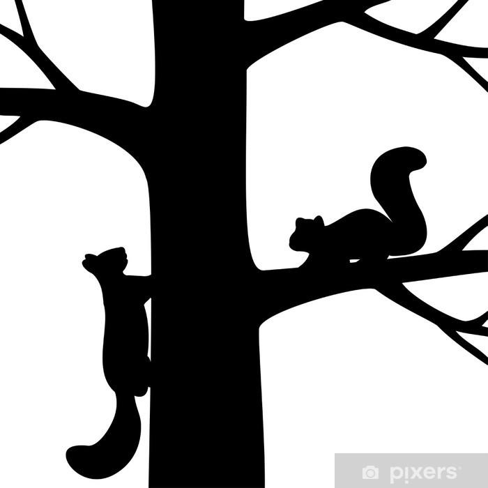 fototapete zwei eichhörnchen auf dem baum • pixers®  wir