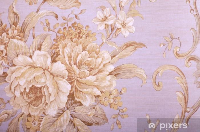 Pixerstick Sticker Vintage behang met bloemmotief -