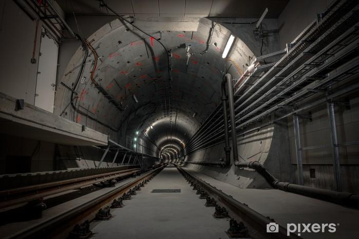 Underground tunnel for the subway Pixerstick Sticker - Themes