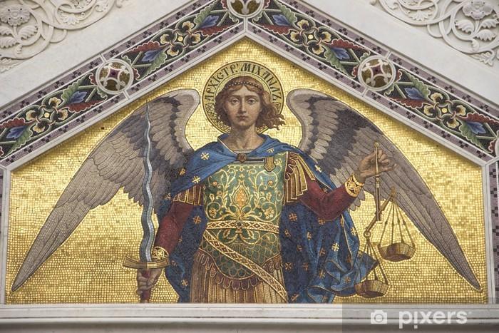 Mosaic of Saint Michael Self-Adhesive Wall Mural - Themes