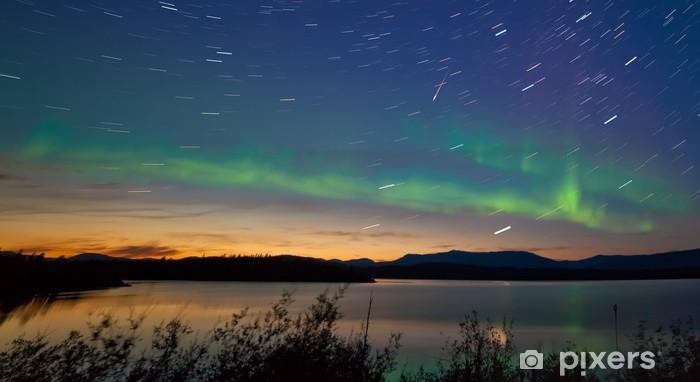 Shooting star meteor Aurora borealis Northern lights Vinyl Wall Mural - Wonders of Nature