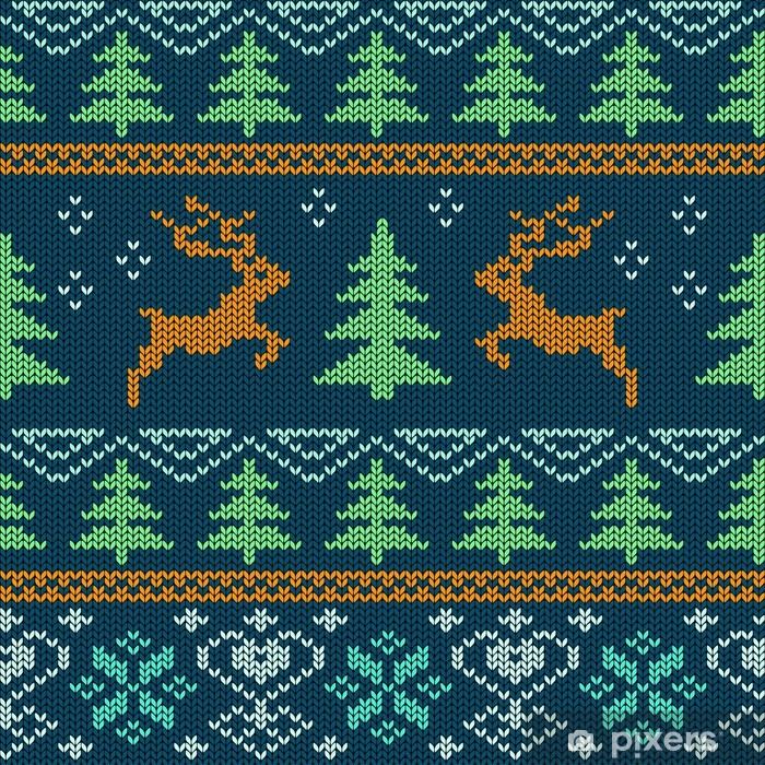 Poster Scandinavian maglia seamless - Feste Internazionali