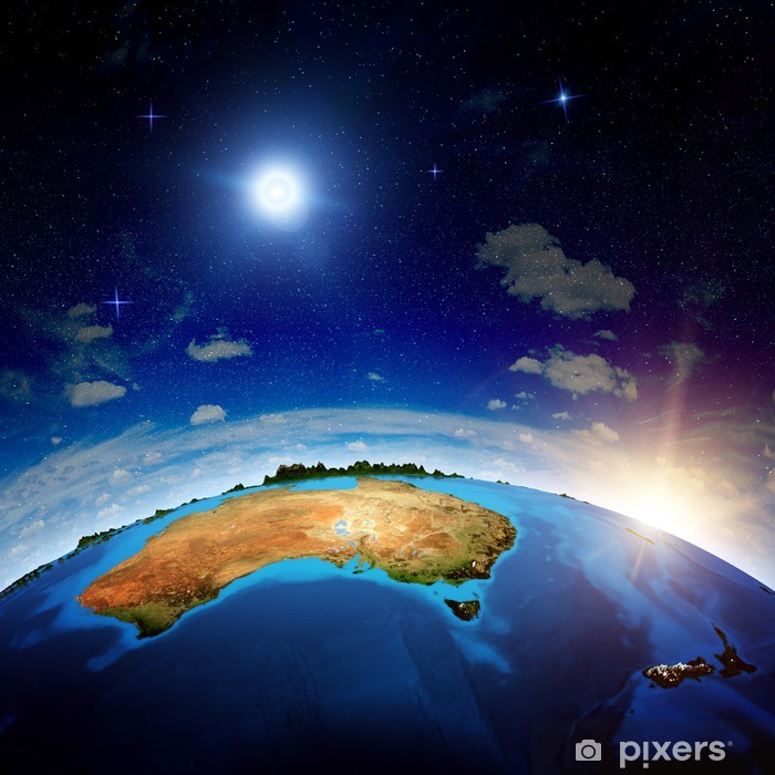 Vinil Duvar Resmi Avustralya ve Yeni Zelanda - Dünya