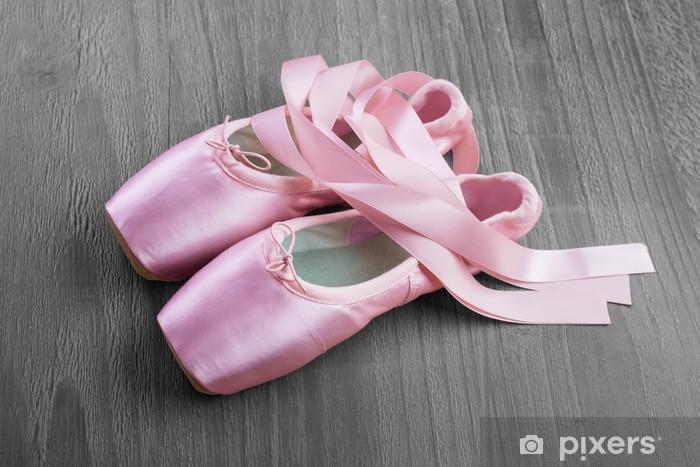 Nálepka Pixerstick Nová růžová balet Pointe boty - Móda