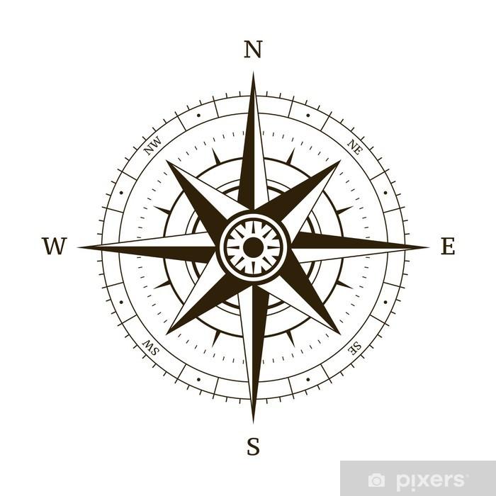 Naklejka Kompas Róża Wiatrów Pixerstick