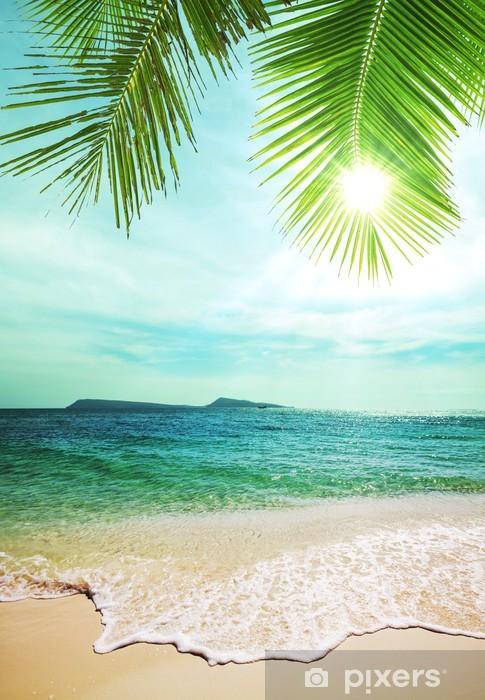 Papier peint vinyle Tropical beach - Thèmes