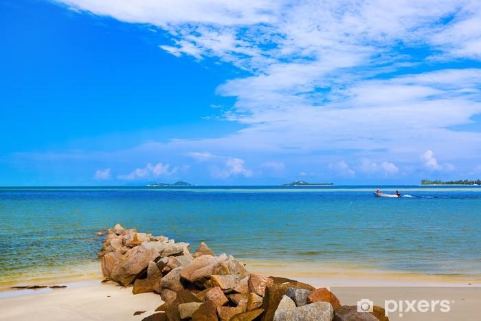 Vinyl-Fototapete Tropischer Strand auf den Seychellen - Urlaub