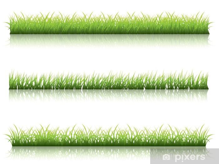 Naklejka Pixerstick Linia zielona trawa - Pory roku