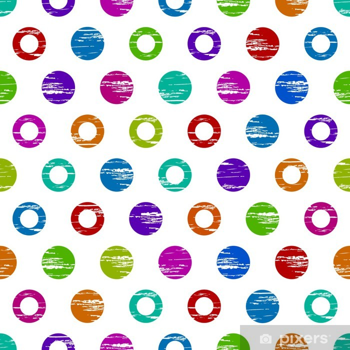 seamless colorful grunge circle texture background Pixerstick Sticker - Backgrounds