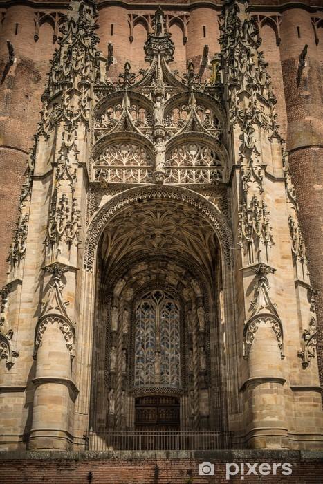Naklejka Pixerstick Wejście do katedry w Albi, Francja - Budynki użyteczności publicznej