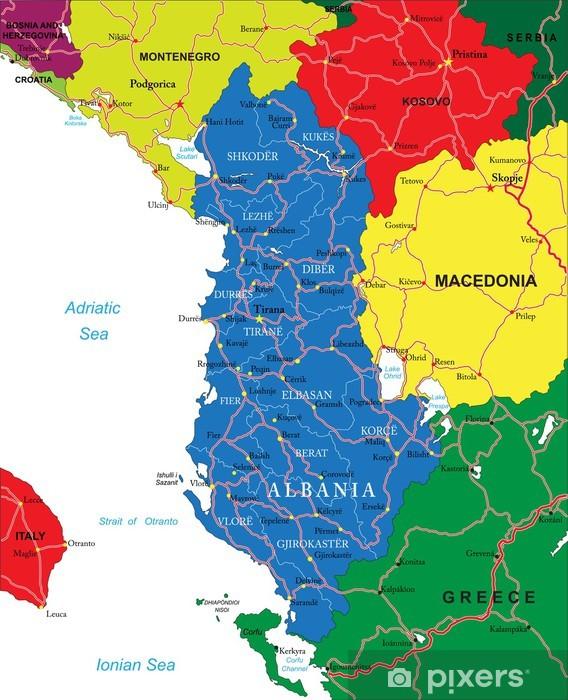 Albania Kartta Pixerstick Tarra Pixers Elamme Muutoksille