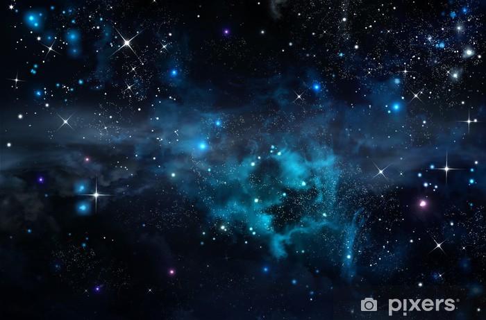 Naklejka Pixerstick Gwiaździste niebo w otwartej przestrzeni - Style
