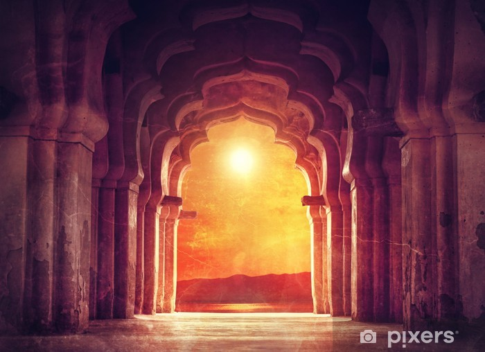 Old temple in India Pixerstick Sticker - Themes