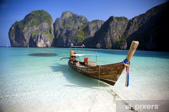 Vinyl Fotobehang Maya Bay, Koh Phi Phi Ley, Thailand. - Thema's
