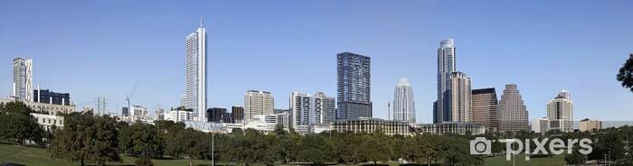 Papier peint vinyle Un Panorama Vue de la Skyline Austin au Texas - Amérique