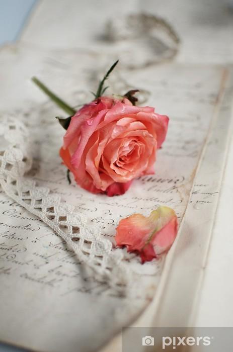 Naklejka Pixerstick Vintage Rose - Świętowanie