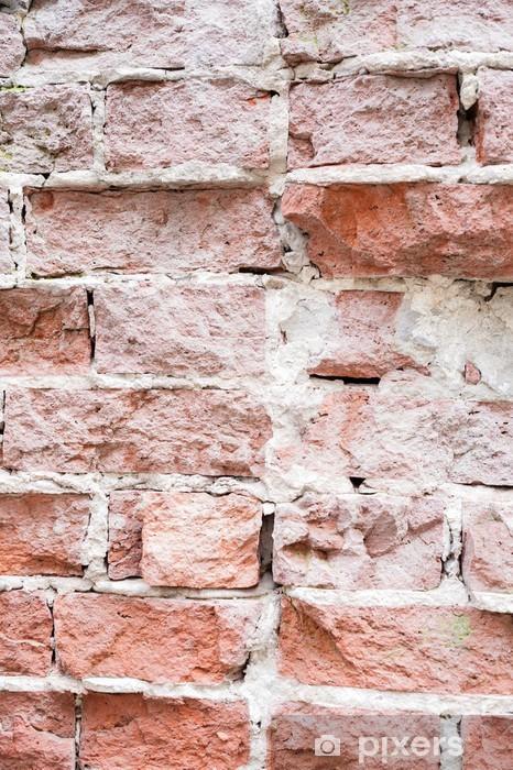 Naklejka Pixerstick Mur ceglany fragment - Tekstury