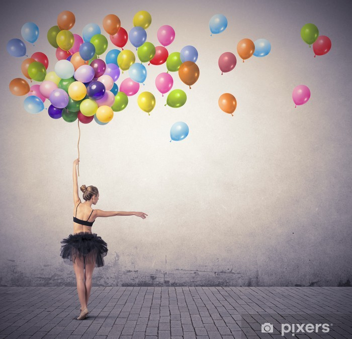 Dancer with balloons Poster - Themes