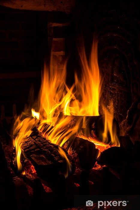 Fototapeta winylowa Ogień w kominku - Gniew