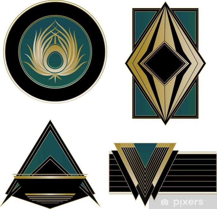 Art Deco Logos and Design Elements Wardrobe Sticker - Fashion