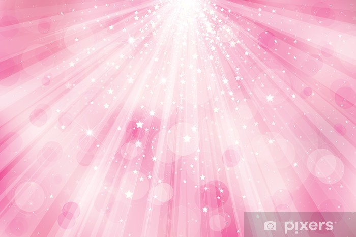 Vector Glitter Pink Background With Rays Of Lights And