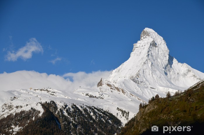 Papier peint vinyle Matterhorn Zermatt Suisse - Vacances