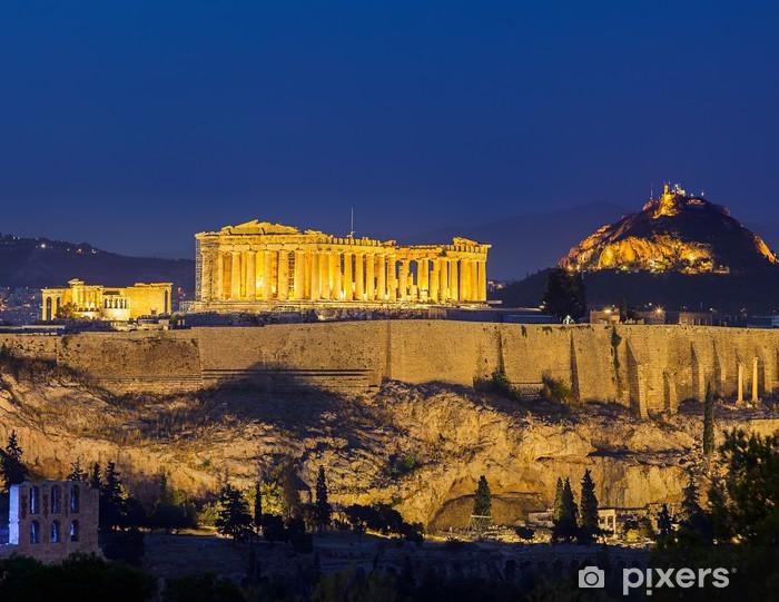 Papier peint vinyle Acropole d'Athènes, la nuit - Thèmes