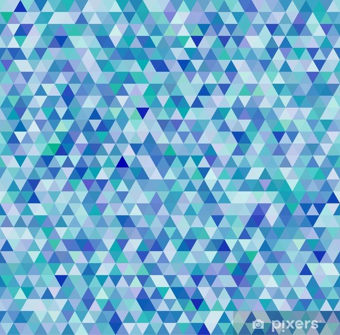 Nálepka Pixerstick Barevné trojúhelníky geometrické bezešvé vzor - Abstraktní