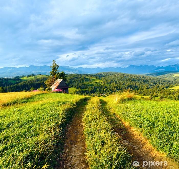 Sticker Pixerstick Vue sur la campagne de montagne d'été - Thèmes