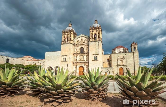 Pixerstick Sticker Kerk van Santo Domingo de Guzman in Oaxaca, Mexico - Thema's