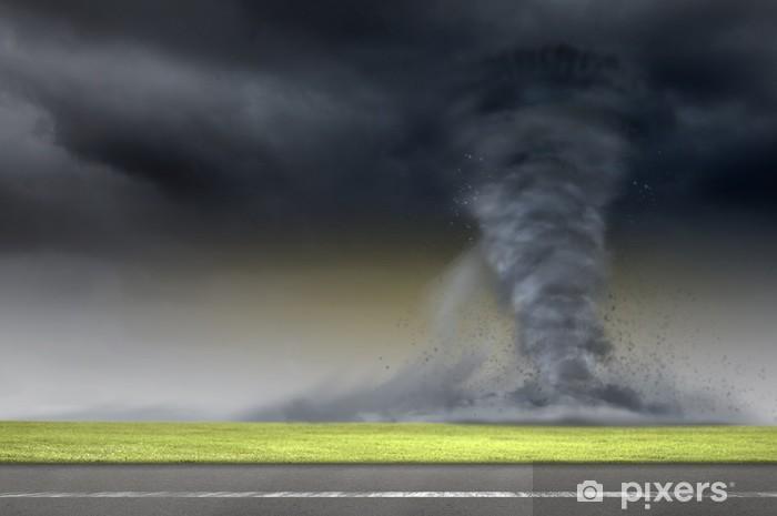 Pixerstick Sticker Tornado op weg - Het Leven