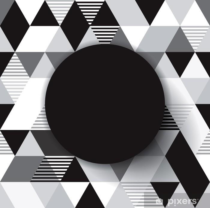 Plakát Černé a bílé geometrické zázemí pro obalový design. - Pozadí