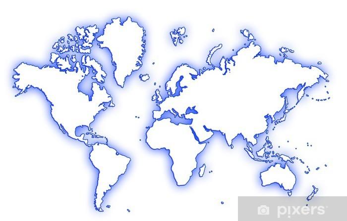 Karte Erde.Fototapete Karte Der Erde