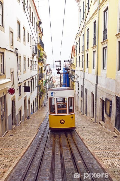 Bica tram in Lisbon Portugal Pixerstick Sticker - European Cities