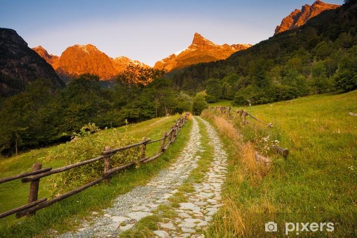 Vinil Duvar Resmi Champdepraz, Valle d'Aosta - Tatil