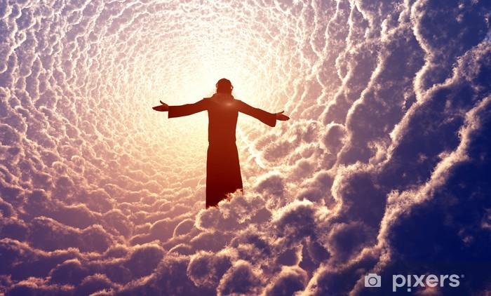 Pixerstick Sticker Jezus in de wolken. - Religie en Cultuur