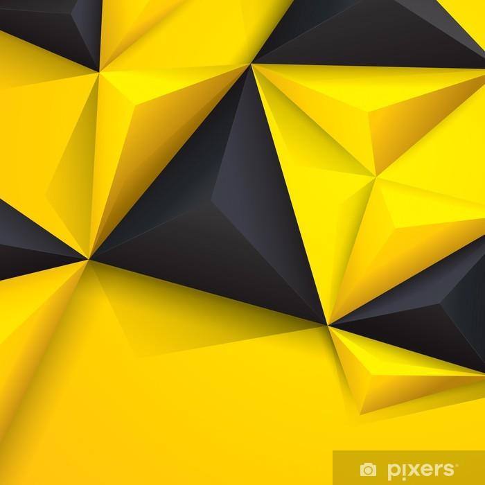 Naklejka Pixerstick Żółty i czarny geometrycznej. - Tła