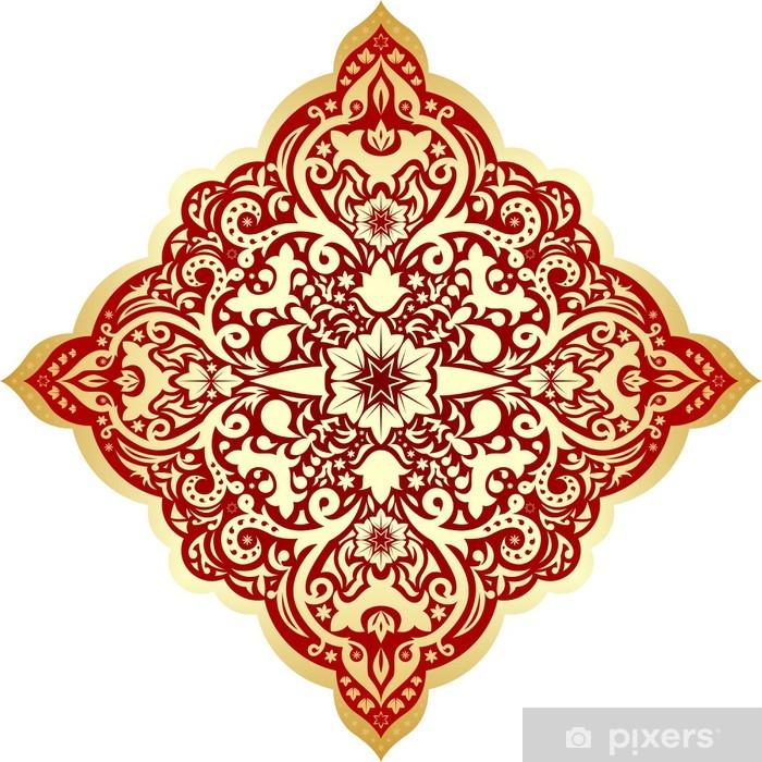 Orientalisches Muster Mit Mandala Vektor