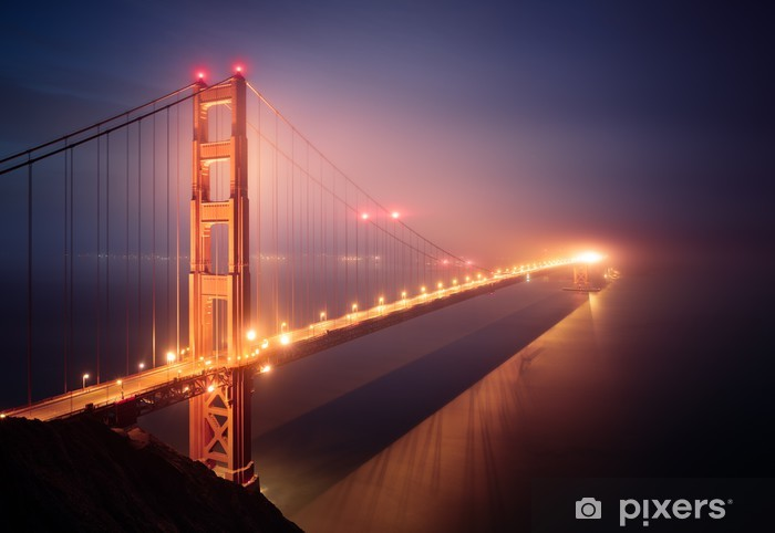 Mural de Parede em Vinil Golden gate bridge, San Francisco - Temas