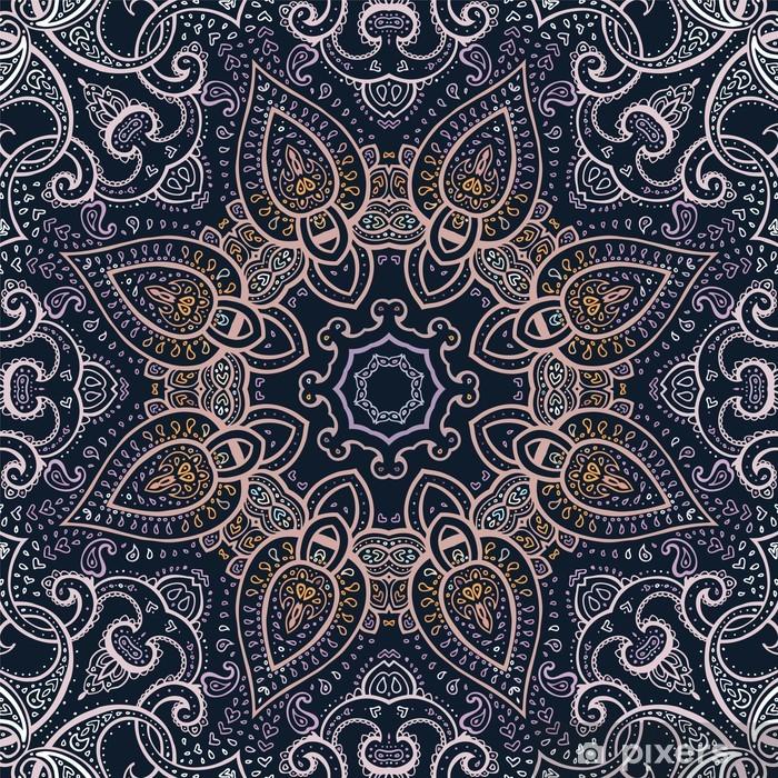 Naklejka Pixerstick Mandala. indian wzór dekoracyjny. - Tematy