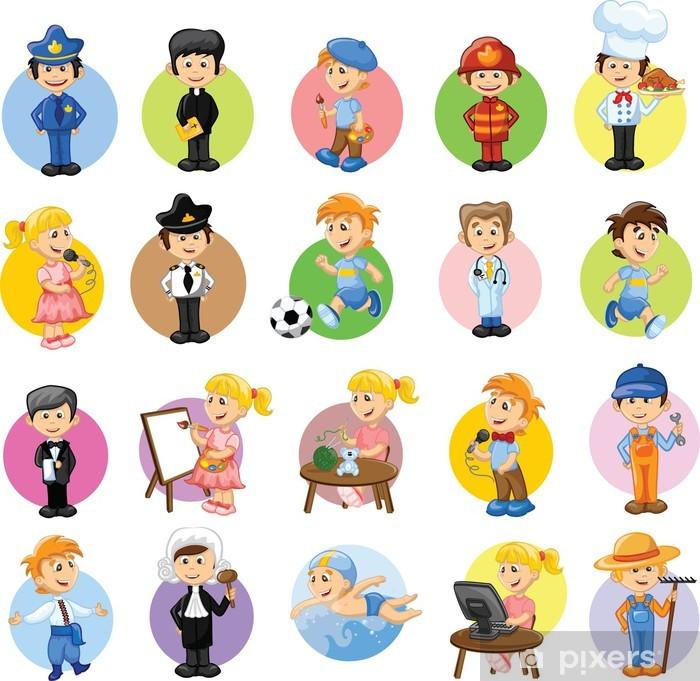 Герои мультфильмов разных профессий Poster - Groups and Crowds