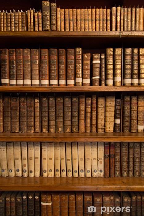 Wall Mural Vinyl Livres Dans Une Bibliotheque