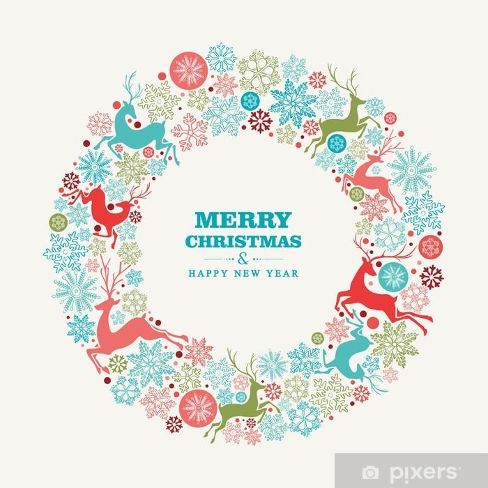 Joyeux Noel Et Nouvel An.Papier Peint Joyeux Noel Et Bonne Carte De Voeux Du Nouvel An